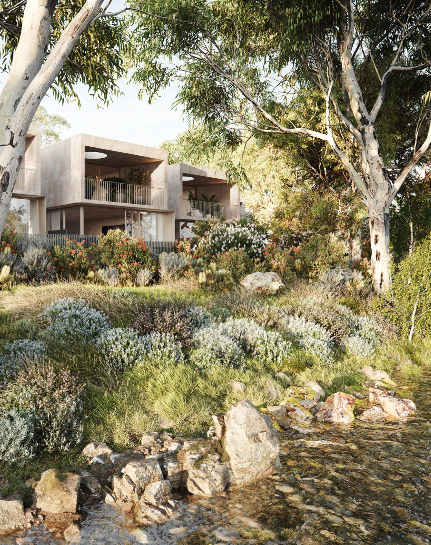 Beulah unveils rare creekfront houses in Northcote